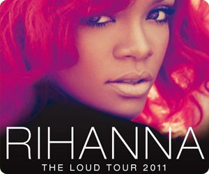 Rihanna in Italia con il The Loud Tour 2011